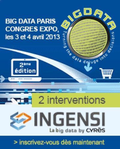 Ingensi au congrès Big Data Paris