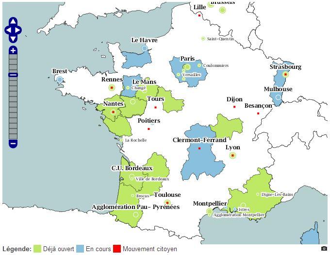 données publiques cartographie