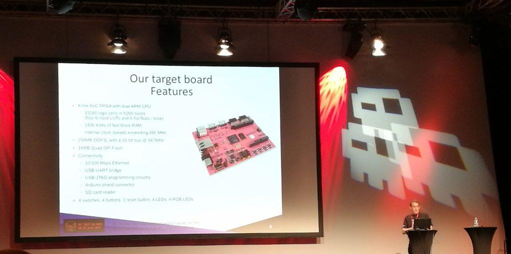 FPGA une carte électronique présentée à la nuit du hack