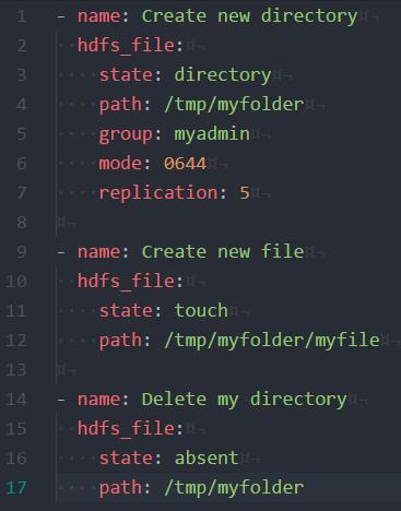 Exemple d'utilisation du module custom hdfs.