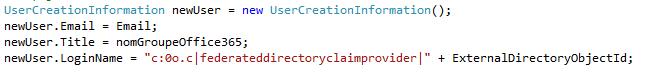 creation objet sharepoint