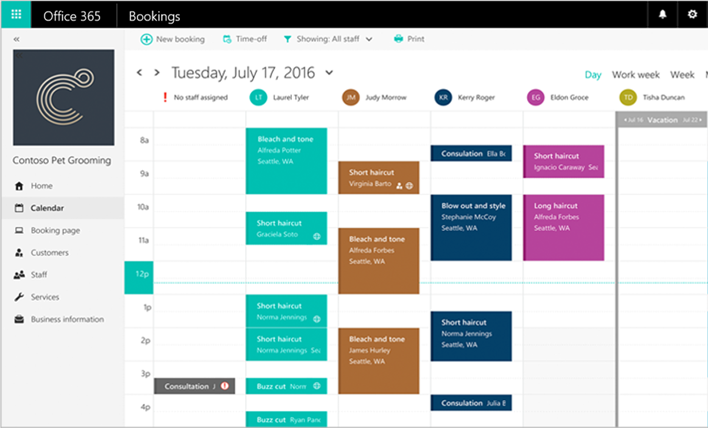 bookings vue calendrier planning en ligne collaboratif