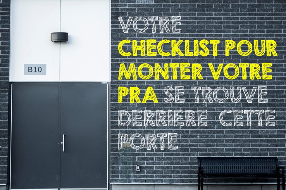 checklist pra plan de reprise d'activité