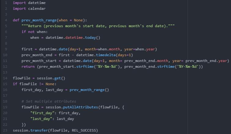 Cas d'usage Nifi Python script