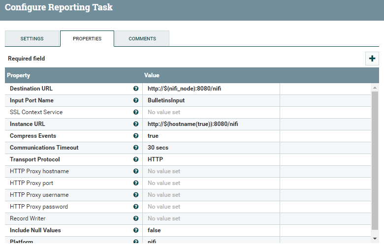 Monitoring nifi SiteToSiteBulletinReportingTask