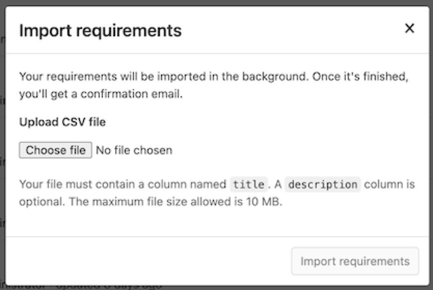 Nouvelle fonctionnalité d'import des requirements dans GitLab 13.7