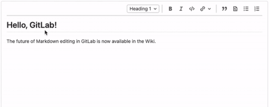 Wiki et éditeur wysiwyg de gitlab version 14.0